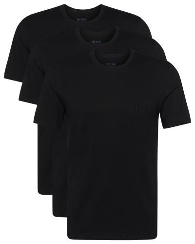 T-Shirts aus reiner Baumwolle im Dreier-Pack