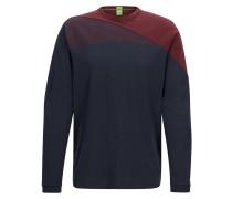 Regular-Fit Pullover aus Baumwolle im Colour Block Design
