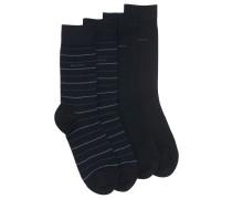 Zweier-Pack Socken aus elastischem Baumwoll-Mix mit normaler Länge