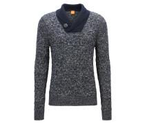Regular-Fit Pullover aus Baumwoll-Mix mit Schur- und Alpakawolle