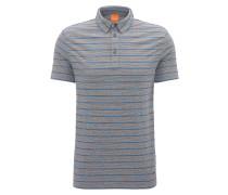 Gestreiftes Regular-Fit Poloshirt aus Baumwoll-Mix
