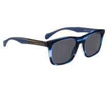 Sonnenbrille aus Acetat mit farbiger Fassung in Horn-Optik