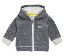 Gemusterte Baby-Sweatjacke aus Stretch-Baumwolle mit Kapuze
