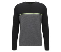 Regular-Fit Pullover aus Baumwoll-Mix im Colour Block Design