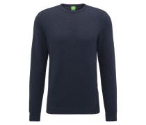 Regular-Fit Pullover aus strukturiertem Baumwoll-Mix