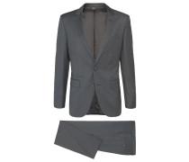 Melierter Slim-Fit Tailored Anzug aus Schurwolle