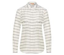 Gestreifte Relaxed-Fit Bluse aus Baumwolle und Seide