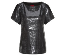Sequinned cold-shoulder top in a relaxed fit