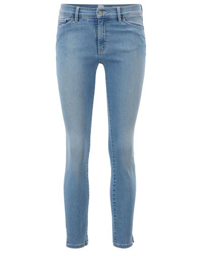 Skinny-Fit Jeans aus Denim mit Saumschlitzen