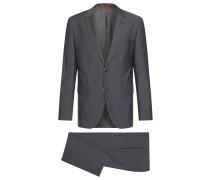 Melierter Regular-Fit Anzug aus Schurwolle