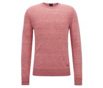 Leichter Pullover aus meliertem Leinen
