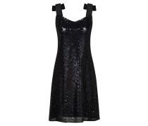 Kleid mit Pailletten und Schleifen an den Trägern
