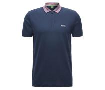 Regular-Fit Poloshirt aus beschichtetem Baumwoll-Mix