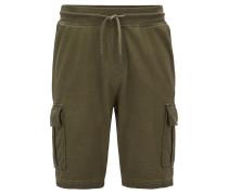 Stückgefärbte Regular-Fit Shorts aus French Terry