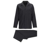 Pyjama aus Baumwolle mit Fil-coupé-Struktur