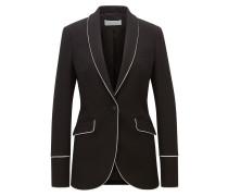 Regular-Fit Blazer aus weichem Jersey mit Paspeln