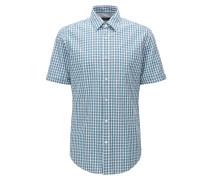 Regular-Fit Kurzarm-Hemd aus Baumwolle mit Vichy-Karo