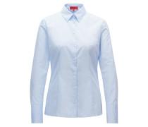 Slim-Fit Bluse aus strukturierter Baumwolle