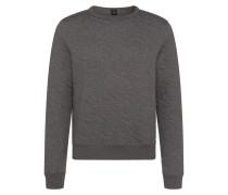 Meliertes Regular-Fit Sweatshirt aus Baumwoll-Mix