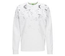 Regular-Fit-Rundhals-Pullover aus Material-Mix mit Baumwolle