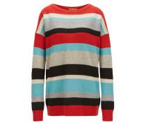Mehrfarbig gestreifter Pullover aus strukturiertem Strick