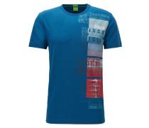 Regular Fit T-Shirt aus elastischem Single Jersey