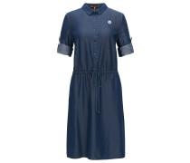 Hemdblusenkleid aus Denim in Washed-Optik