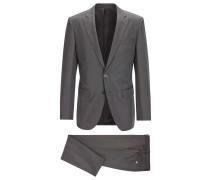 Slim-Fit Anzug aus garngefärbter Seide
