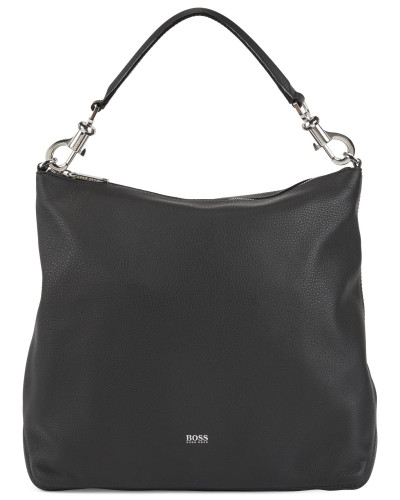 Hobo Bag aus genarbtem italienischem Leder