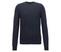 Cotton sweater with mélange front panel