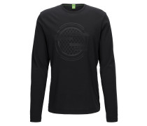 Slim-Fit Longsleeve aus Baumwoll-Mix