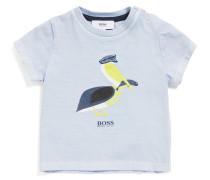 Baby-Shirt aus elastischem Baumwoll-Mix mit Print