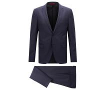 Melierter Extra Slim-Fit Anzug aus Schurwolle