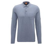 Regular-Fit Poloshirt aus Baumwolle mit verstellbaren Ärmeln
