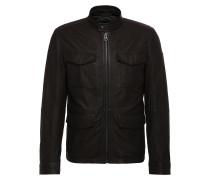 Field-Jacket aus gewachstem Leder