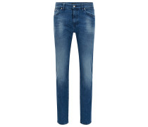 Regular-Fit Jeans aus Stretch-Denim mit gebleichtem Finish