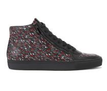 Hightop-Sneakers aus Leder mit Grafik-Print