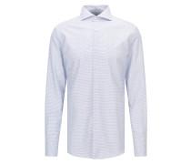 Fein strukturiertes Slim-Fit Hemd aus Baumwolle mit Perlmuttknöpfen