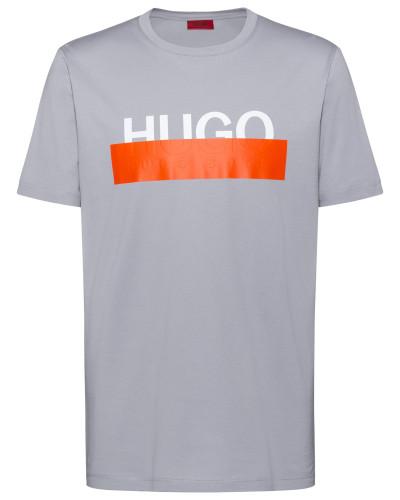 T-Shirt aus Baumwolle mit abgeschnittenem Logo