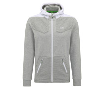 Regular-Fit Sweatshirt aus Material-Mix