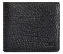 Klapp-Geldbörse aus genarbtem Leder mit acht Kartenfächern