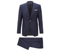 Slim-Fit Anzug aus Schurwolle mit Längsstreifen