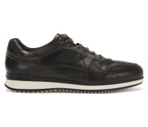Sneakers aus Leder mit Schichtsohle