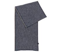 Schal aus strukturierter Baumwolle mit dezenten Fransen