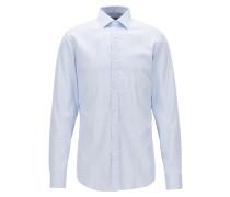 Slim-Fit Hemd aus Baumwolle mit Mikro-Struktur