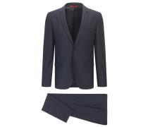 Extra-Slim-Fit-Nadelstreifen-Anzug aus Schurwolle