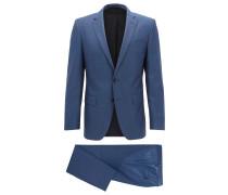 Slim-Fit Anzug aus natürlich elastischer Schurwolle