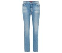 Skinny-Fit Jeans aus meliertem Denim