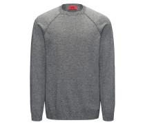 Melierter Pullover aus reiner Baumwolle