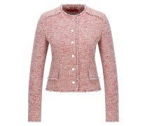 Regular-Fit Tweed-Blazer aus Baumwoll-Mix